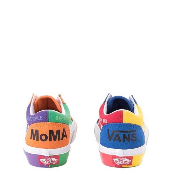 alternate view Vans x MoMA Old Skool Color Wheel Checkerboard Skate Shoe - Little Kid - MulticolorALT2B