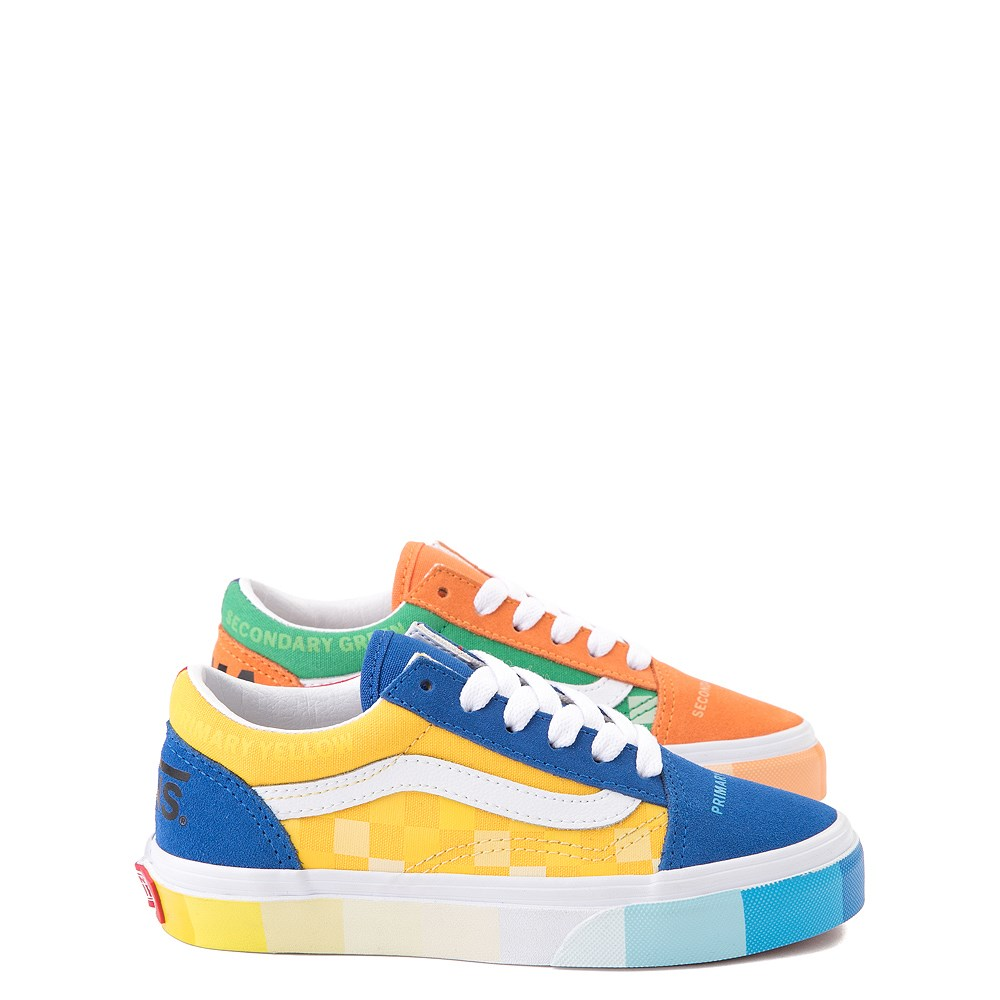 Vans x MoMA Old Skool Color Wheel Checkerboard Skate Shoe - Little Kid - Multicolor