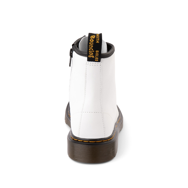 alternate view Dr. Martens 1460 8-Eye Boot - Little Kid / Big Kid - WhiteALT4