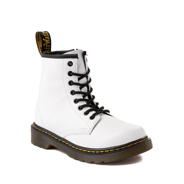 alternate view Dr. Martens 1460 8-Eye Boot - Little Kid / Big Kid - WhiteALT5