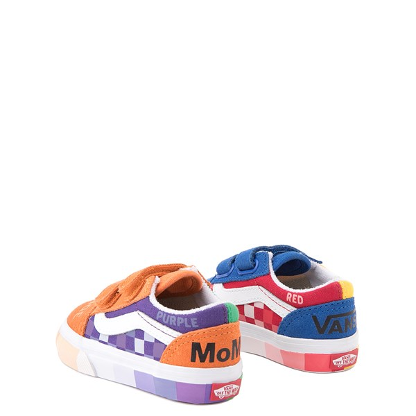 alternate view Vans x MoMA Old Skool V Color Wheel Checkerboard Skate Shoe - Baby / Toddler - MulticolorALT2