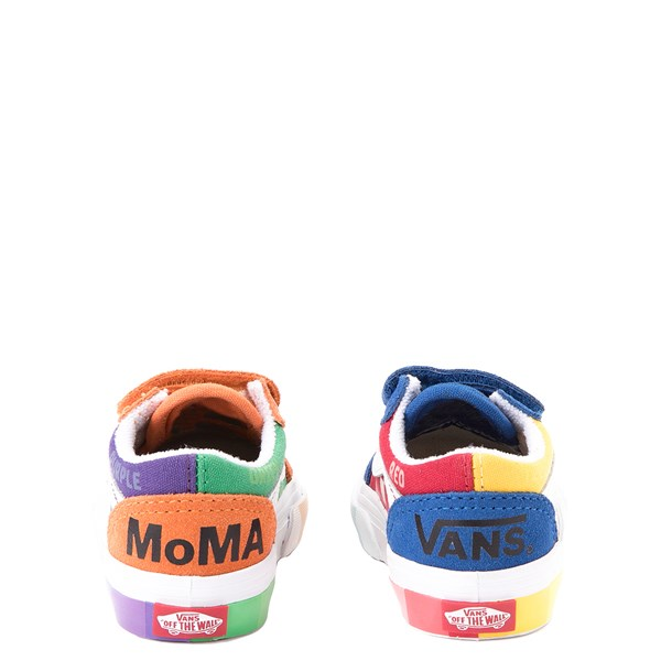 alternate view Vans x MoMA Old Skool V Color Wheel Checkerboard Skate Shoe - Baby / Toddler - MulticolorALT2B
