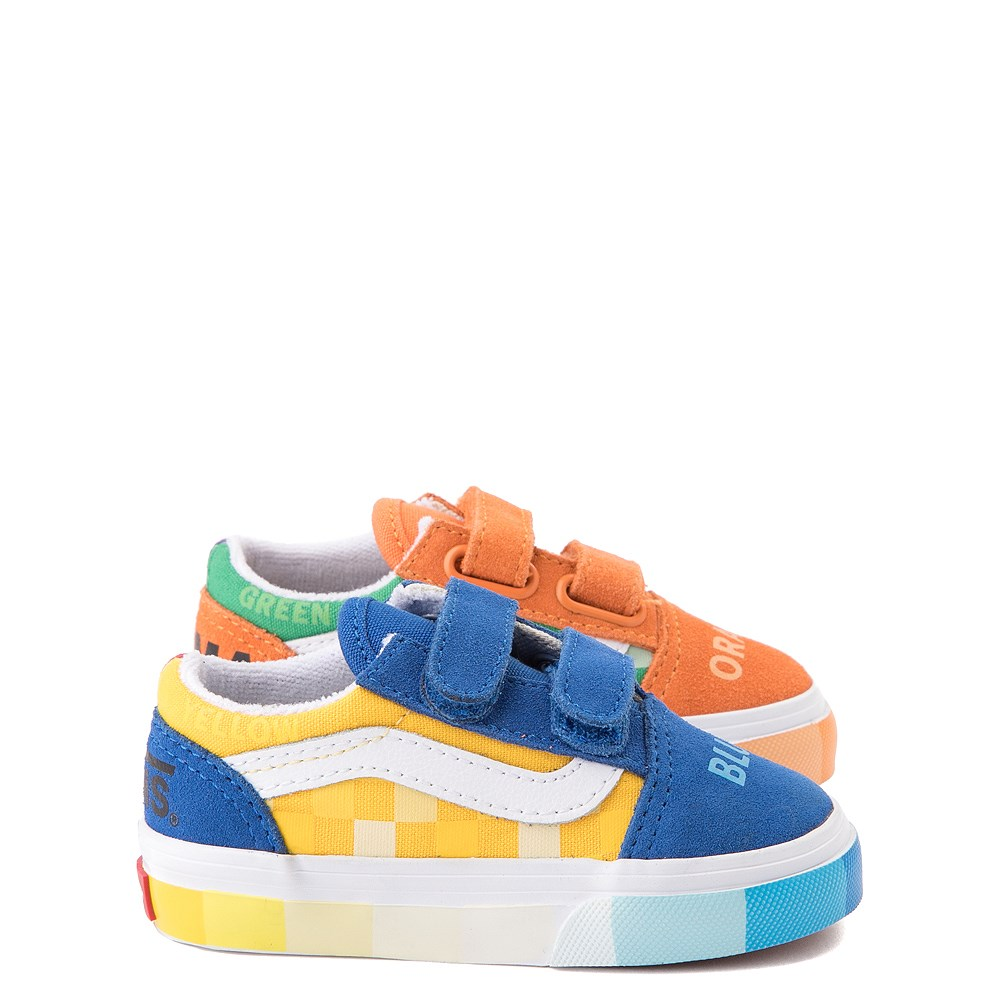 Vans x MoMA Old Skool V Color Wheel Checkerboard Skate Shoe - Baby / Toddler - Multicolor