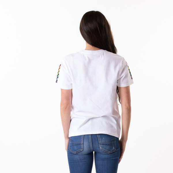 alternate view Womens Vans Checkmate Boyfriend Tee - White / MultiALT1