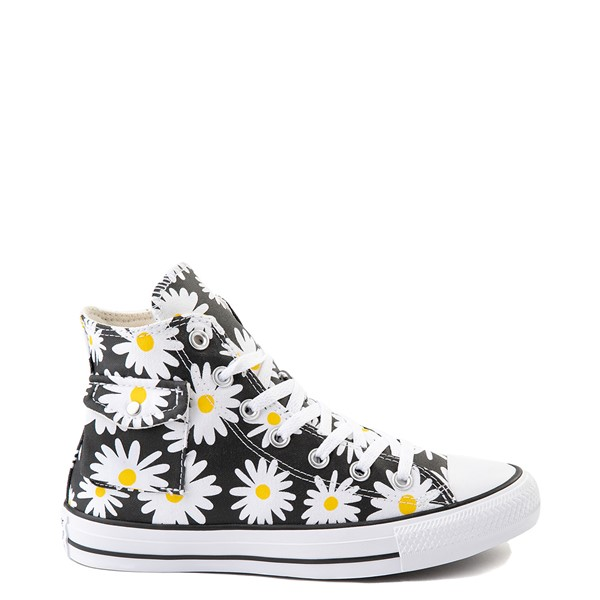 Womens Converse Chuck Taylor All Star Hi Pocket Sneaker - Black / Daisies