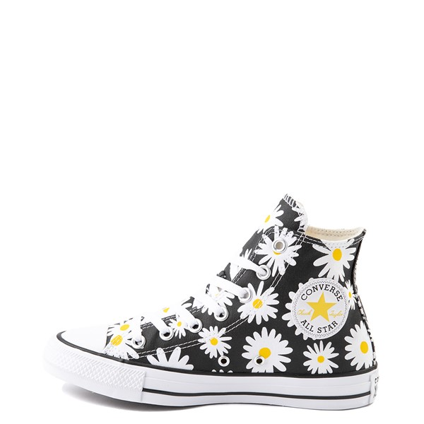 alternate view Womens Converse Chuck Taylor All Star Hi Pocket Sneaker - Black / DaisiesALT1