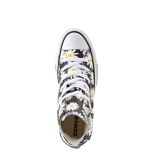 alternate view Womens Converse Chuck Taylor All Star Hi Pocket Sneaker - Black / DaisiesALT2