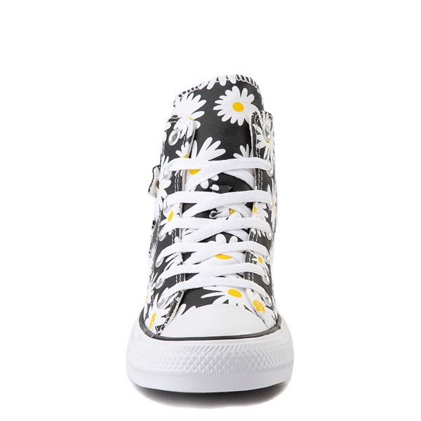 alternate view Womens Converse Chuck Taylor All Star Hi Pocket Sneaker - Black / DaisiesALT4
