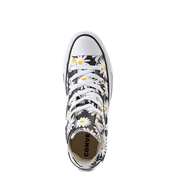 alternate view Womens Converse Chuck Taylor All Star Hi Pocket Sneaker - Black / DaisiesALT4B