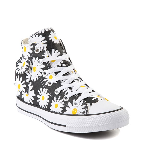 alternate view Womens Converse Chuck Taylor All Star Hi Pocket Sneaker - Black / DaisiesALT5