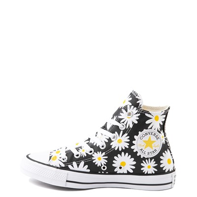 Alternate view of Womens Converse Chuck Taylor All Star Hi Pocket Sneaker - Black / Daisies