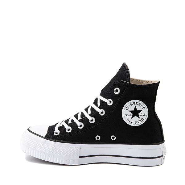 alternate view Womens Converse Chuck Taylor All Star Hi Platform Sneaker - BlackALT1