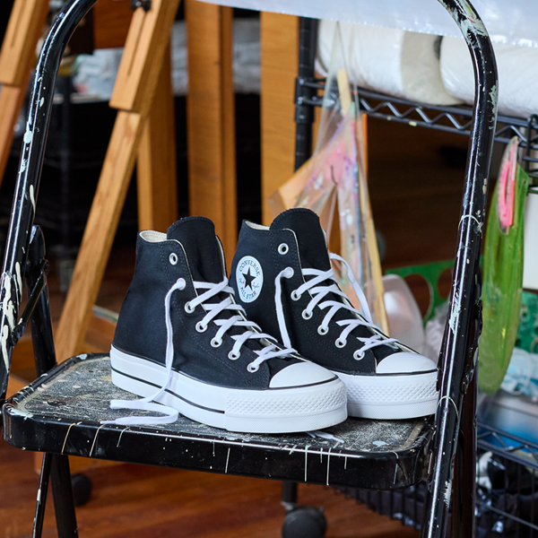 alternate view Womens Converse Chuck Taylor All Star Hi Platform Sneaker - BlackALT1C