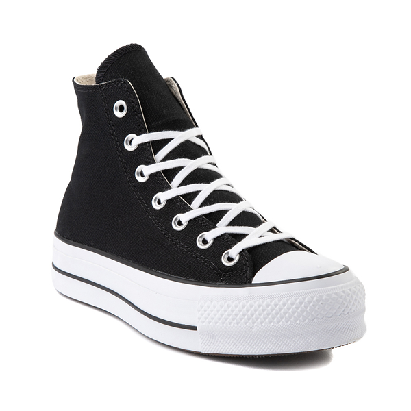 alternate view Womens Converse Chuck Taylor All Star Hi Platform Sneaker - BlackALT5