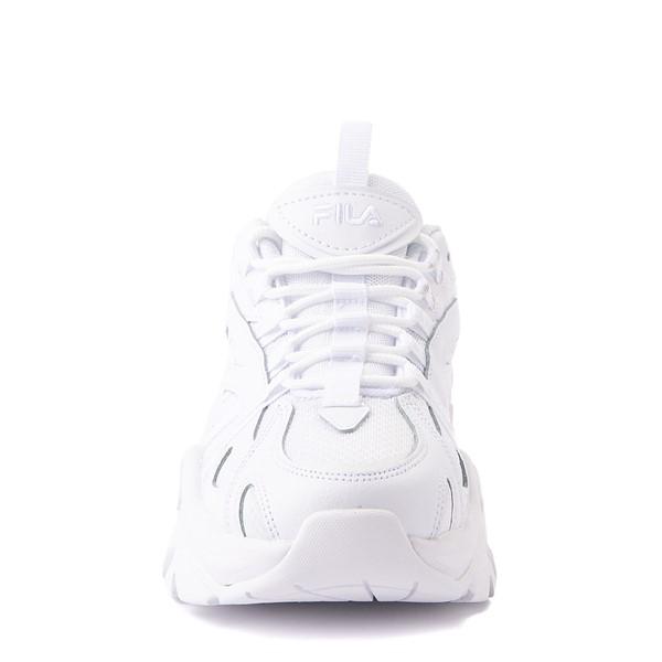 alternate view Womens Fila Electrove Athletic Shoe - White MonochromeALT4