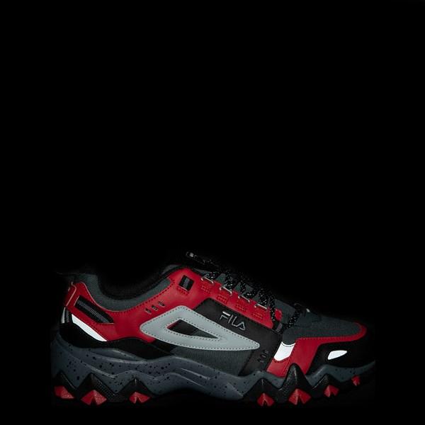 alternate view Mens Fila Oakmont TR Athletic Shoe - Gray / Black / RedALT1