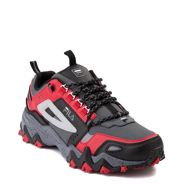 alternate view Mens Fila Oakmont TR Athletic Shoe - Gray / Black / RedALT1B
