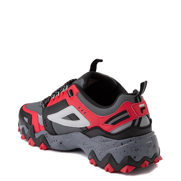 alternate view Mens Fila Oakmont TR Athletic Shoe - Gray / Black / RedALT2
