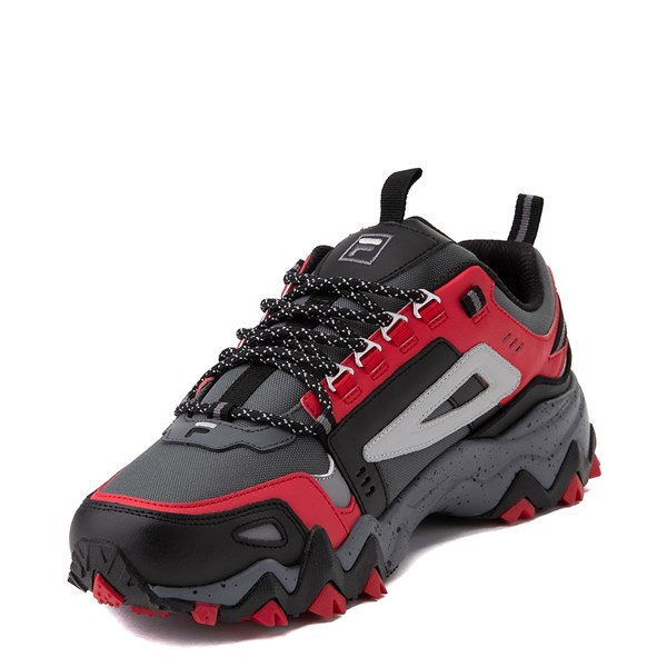 alternate view Mens Fila Oakmont TR Athletic Shoe - Gray / Black / RedALT3