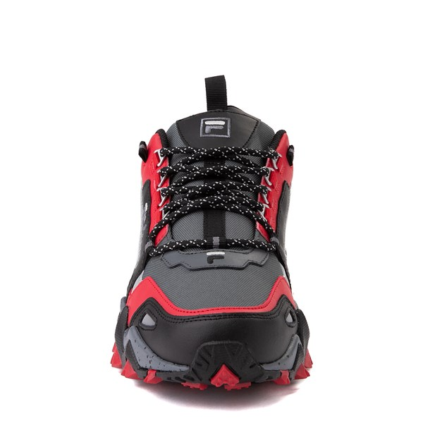 alternate view Mens Fila Oakmont TR Athletic Shoe - Gray / Black / RedALT4