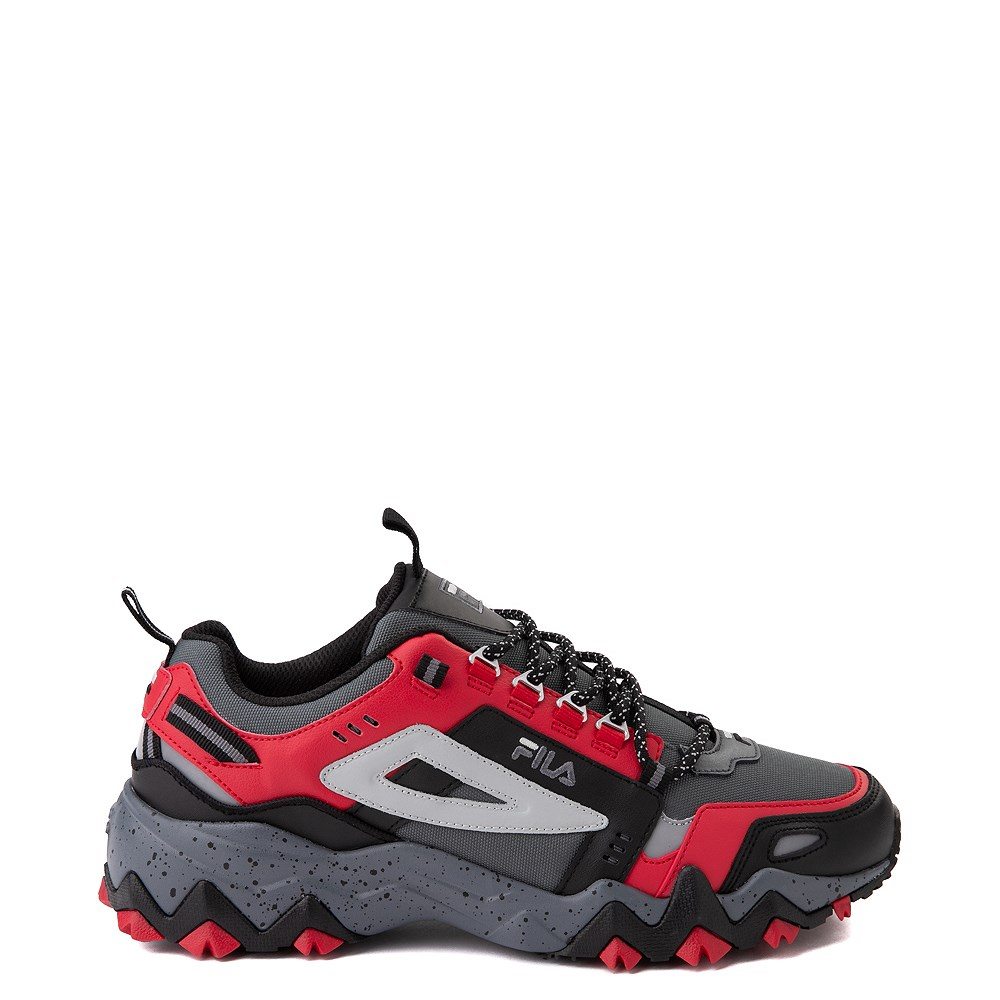 Mens Fila Oakmont TR Athletic Shoe - Gray / Black / Red