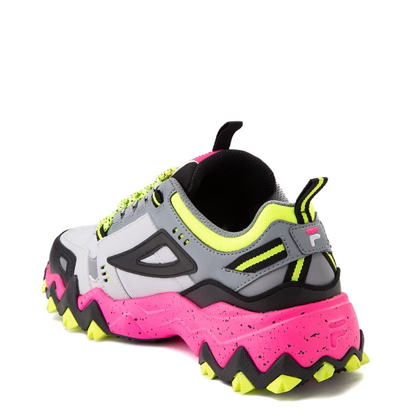 alternate view Womens Fila Oakmont TR Athletic Shoe - Gray / Black / PinkALT2