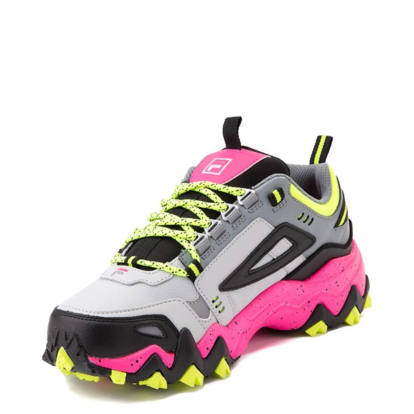 alternate view Womens Fila Oakmont TR Athletic Shoe - Gray / Black / PinkALT3
