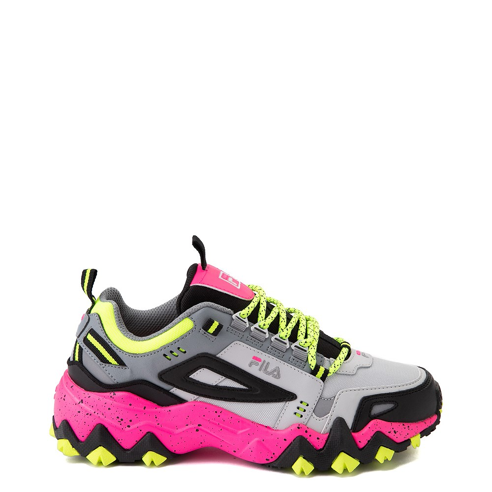 Womens Fila Oakmont TR Athletic Shoe - Gray / Black / Pink
