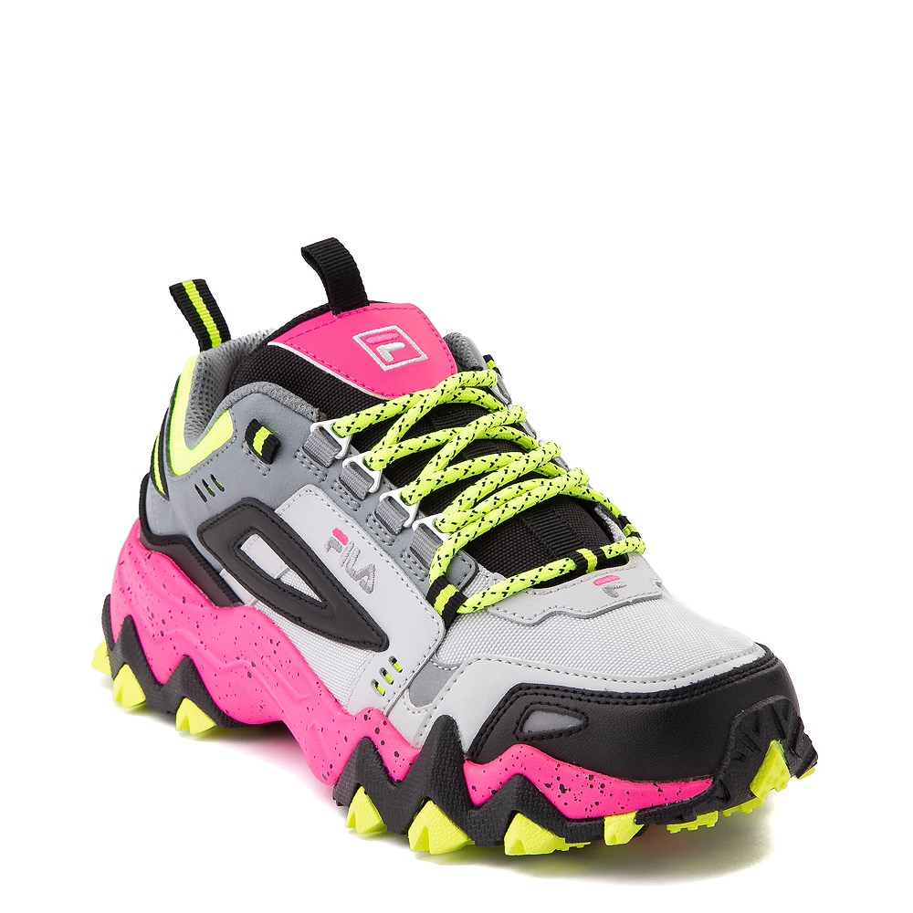 Womens Fila Oakmont TR Athletic Shoe Gray Black Pink