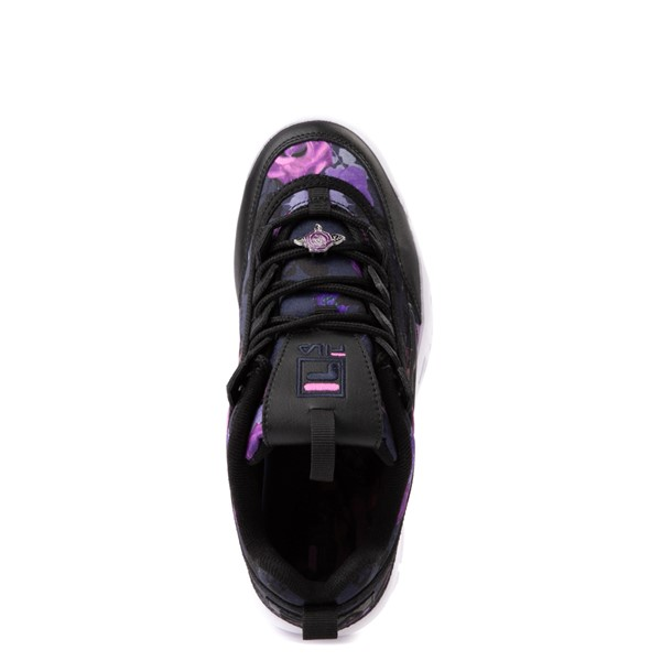 alternate view Womens Fila Disruptor 2 Floral Athletic Shoe - Black / PurpleALT2