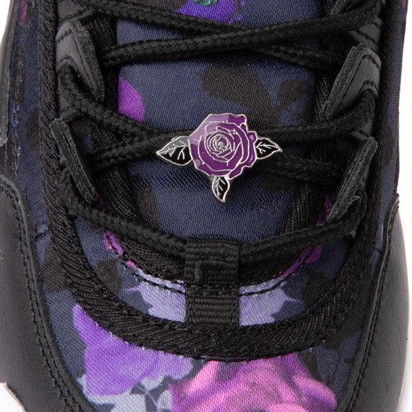 alternate view Womens Fila Disruptor 2 Floral Athletic Shoe - Black / PurpleALT2B