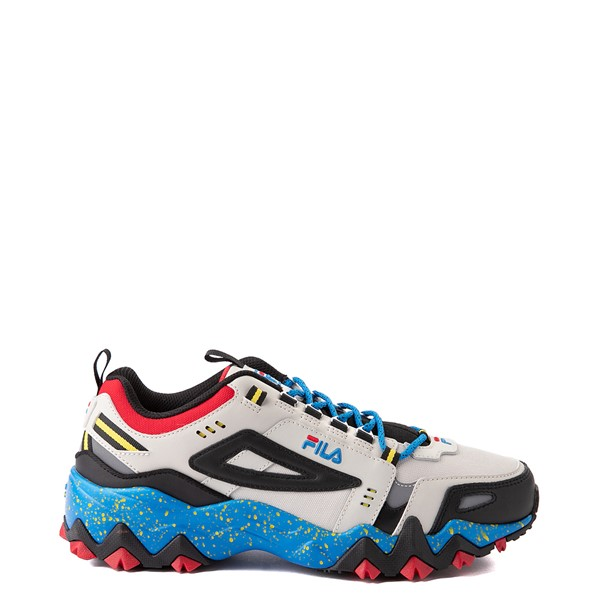 Mens Fila Oakmont TR Athletic Shoe - Silver Birch / Black / Electric Blue