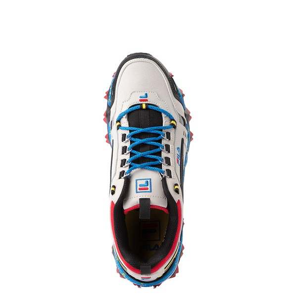 alternate view Mens Fila Oakmont TR Athletic Shoe - Silver Birch / Black / Electric BlueALT4B