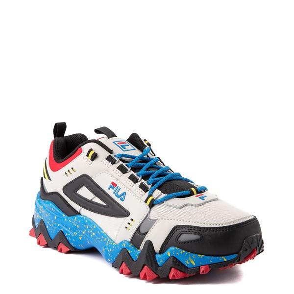 alternate view Mens Fila Oakmont TR Athletic Shoe - Silver Birch / Black / Electric BlueALT5B