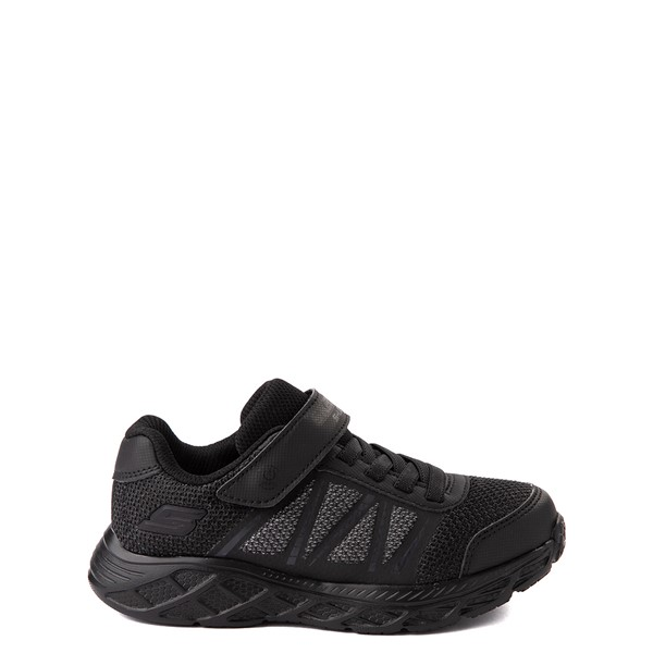 Main view of Skechers S Lights Dynamic Flash Sneaker - Little Kid - Black Monochrome