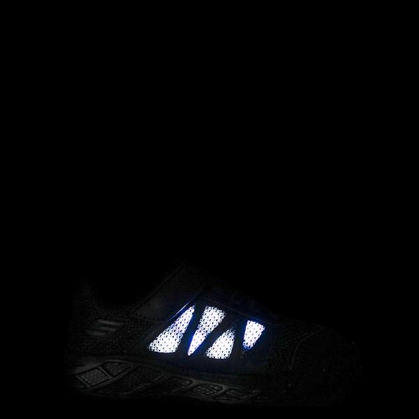 alternate view Skechers S Lights Dynamic Flash Sneaker - Little Kid - Black MonochromeALT1