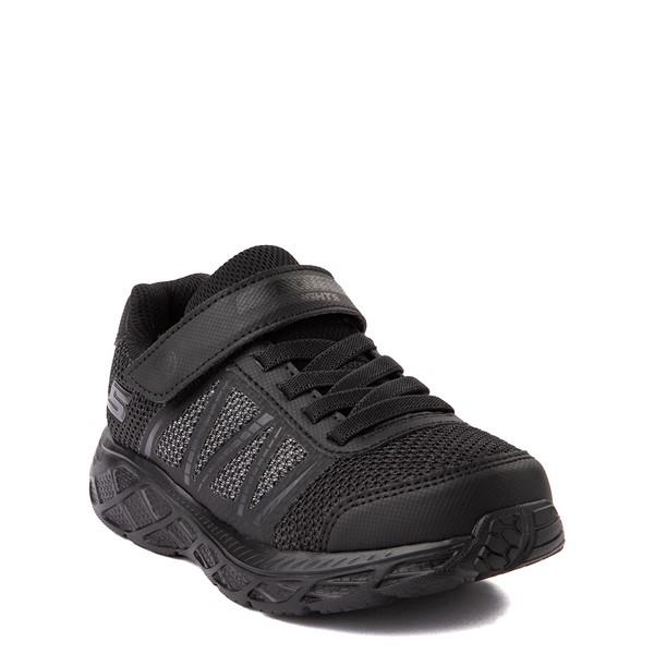 alternate view Skechers S Lights Dynamic Flash Sneaker - Little Kid - Black MonochromeALT1B