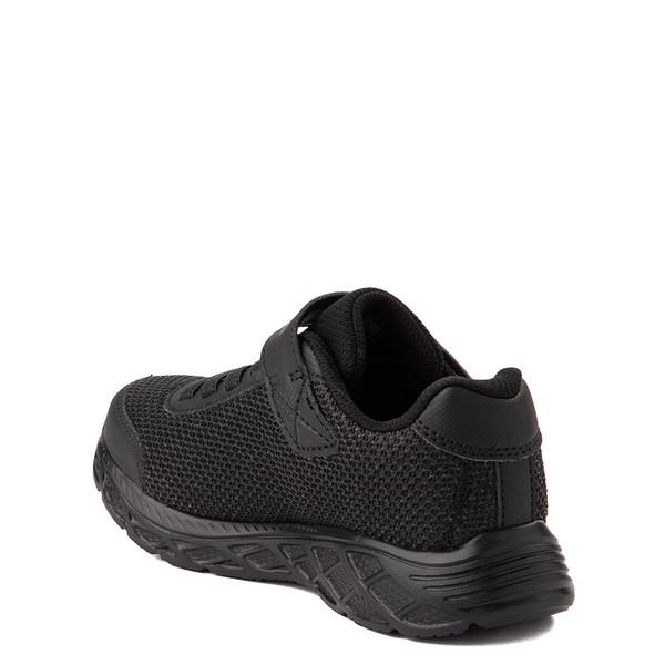 alternate view Skechers S Lights Dynamic Flash Sneaker - Little Kid - Black MonochromeALT2