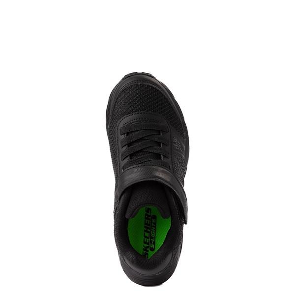 alternate view Skechers S Lights Dynamic Flash Sneaker - Little Kid - Black MonochromeALT4B