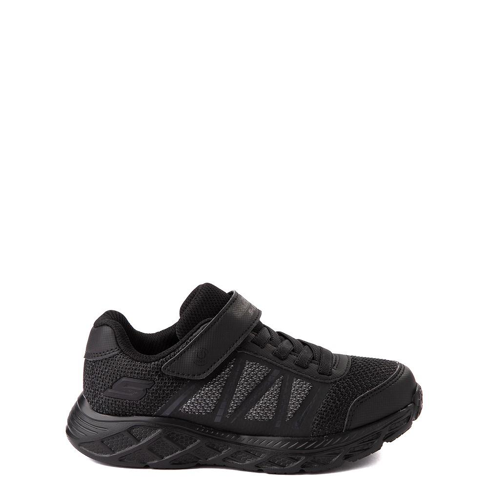 Skechers S Lights Dynamic Flash Sneaker - Little Kid - Black Monochrome