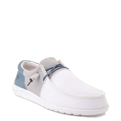 Alternate view of Mens Hey Dude Wally Sox Funk Casual Shoe - White / Gray