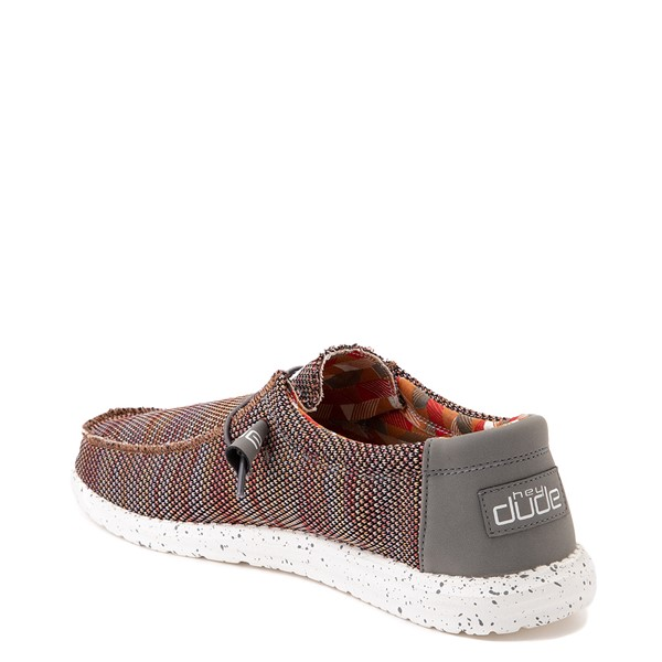 alternate view Mens Hey Dude Wally Sox Casual Shoe - Canyon RedALT1