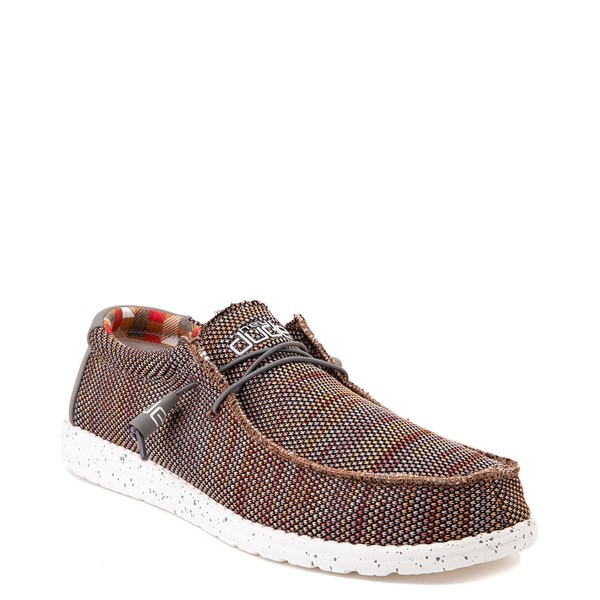 alternate view Mens Hey Dude Wally Sox Casual Shoe - Canyon RedALT5