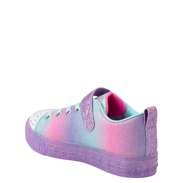alternate view Skechers Twinkle Toes Shuffle Lites Lil Heartbursts Sneaker - Little Kid - Lavender / MulticolorALT1B