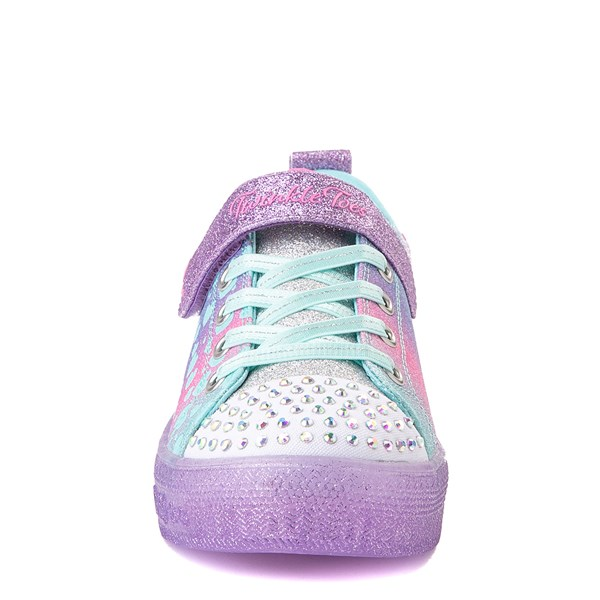 alternate view Skechers Twinkle Toes Shuffle Lites Lil Heartbursts Sneaker - Little Kid - Lavender / MulticolorALT4