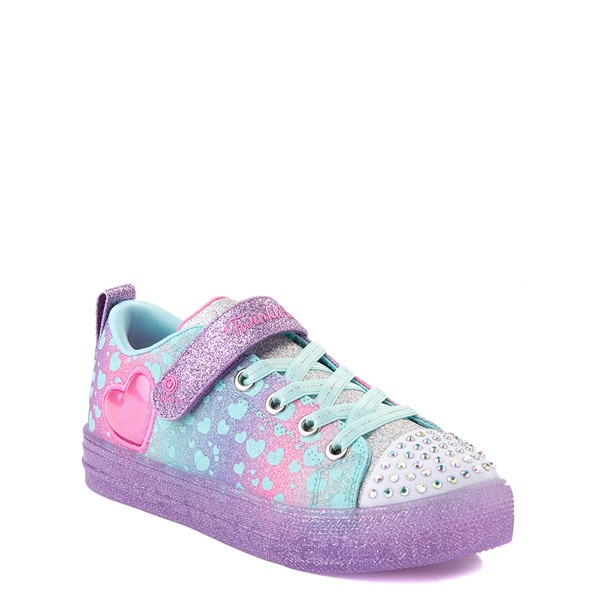 alternate view Skechers Twinkle Toes Shuffle Lites Lil Heartbursts Sneaker - Little Kid - Lavender / MulticolorALT5