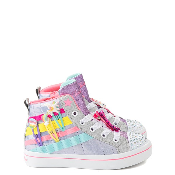 Skechers Twinkle Toes Twi-Lites 2.0 Clip N Joy Sneaker - Little Kid - Silver / Multicolor