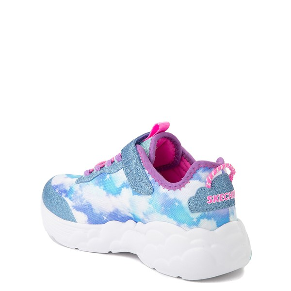 alternate view Skechers Rainbow Racer Sneaker - Little Kid - SkyALT1B