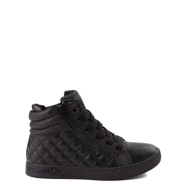 Skechers Shoutouts Quilted Squad Sneaker - Little Kid - Black Monochrome