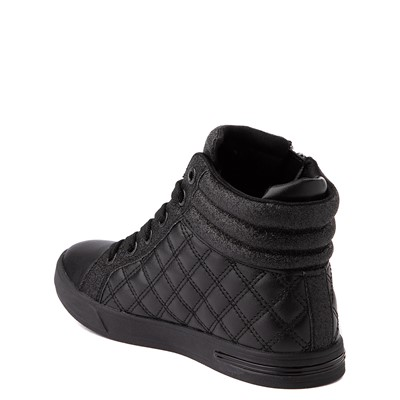 Alternate view of Skechers Shoutouts Quilted Squad Sneaker - Little Kid - Black Monochrome
